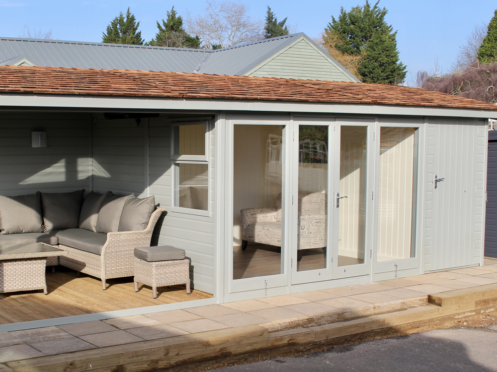 The Studio Pavilion Shoffice Plus Garden Studio by Malvern Garden Buildings