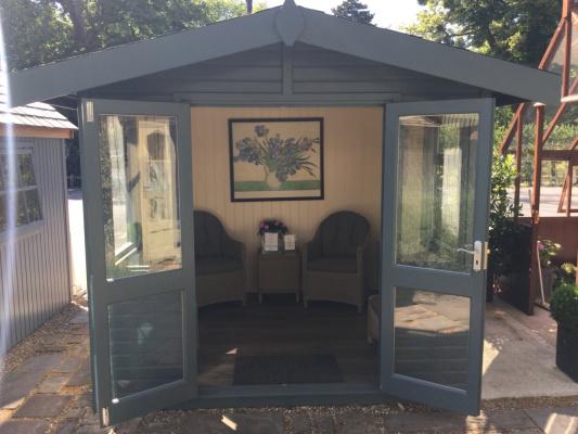Cedar Arley Apex Garden Room ex-display garden building available at Malvern Garden Buildings, Toad Hall, Oxfordshire