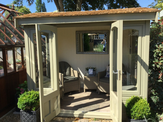 Cedar Astwood Garden Room ex-display garden building available at Malvern Garden Buildings, Toad Hall, Oxfordshire