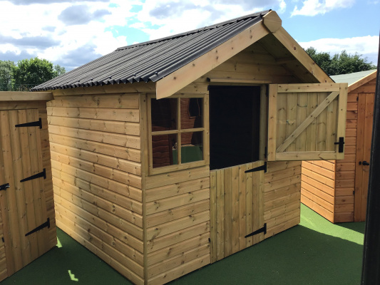 Ex-display Ludlow Shed with stable door and window