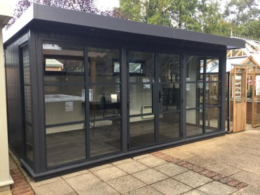 Hanley Heritage Garden Office ex-display garden building available at Malvern Garden Buildings, Lacock, Wiltshire