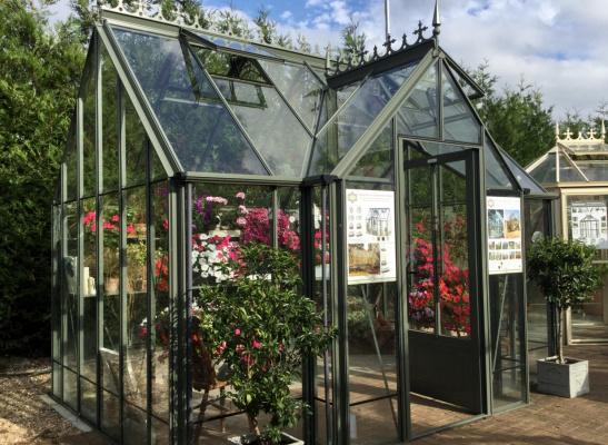 Robinsons Victorian Radley Greenhouse ex-display garden building available at Malvern Garden Buildings, Shepperton, Greater London