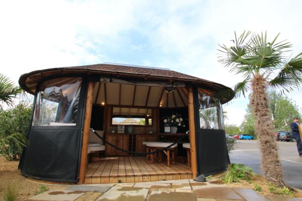 Oval Safari Breeze House summerhouse ex-display garden building available at Malvern Garden Buildings, Buckingham, Buckinghamshire