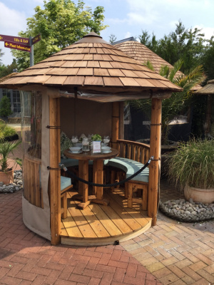 Ex-display Oasis Breeze House is available from Malvern Garden Buildings, Greater London