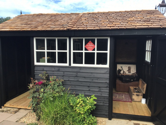 Holt Apex with Tidystore Garden Shed ex-display garden building available at Malvern Garden Buildings, Buckingham, Buckinghamshire
