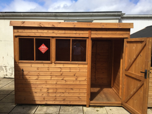 Malvern Heavy Duty Pent Garden Shed ex-display garden building available at Malvern Garden Buildings, Lacock, Wiltshire