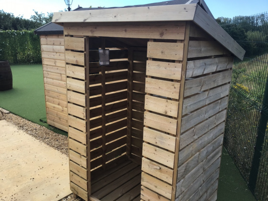 Logstore Garden Shed ex-display garden building available at Malvern Garden Buildings, Buckingham, Buckinghamshire