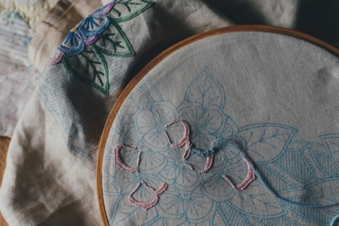 Cottagecore crafts - embroidery