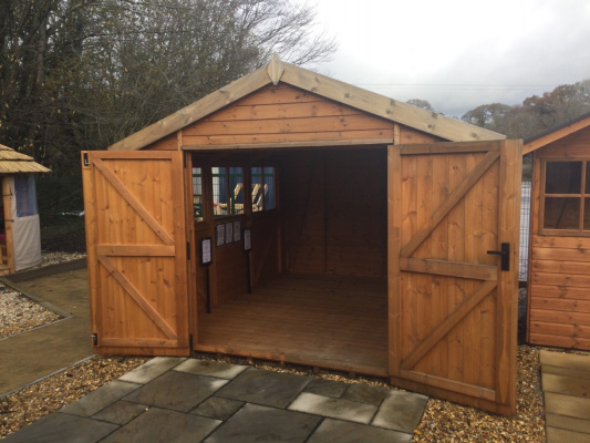 Malvern Hevy Duty Garden Shed ex-display garden building available at Malvern Garden Buildings, Plymouth, Devon