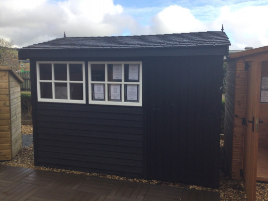 Holt Barnstyle Garden Shed ex-display garden building available at Malvern Garden Buildings, Plymouth, Devon